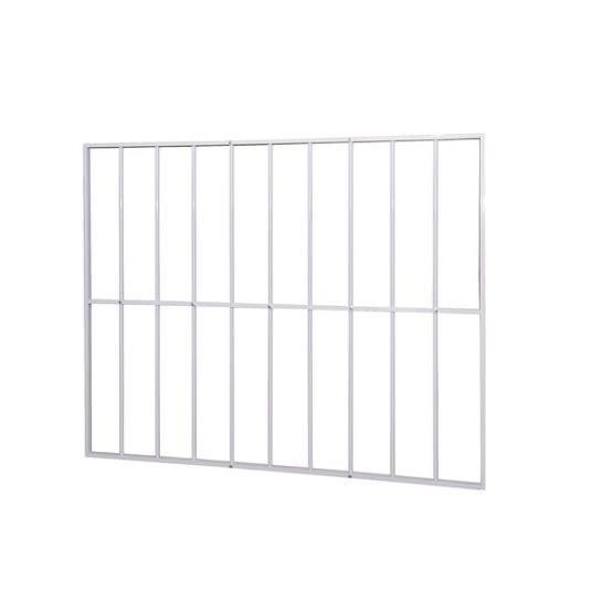 Grade de alumínio para janela de vidro