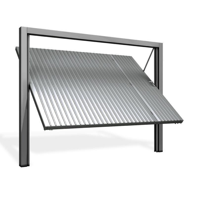 Portão de aço galvanizado de correr
